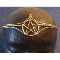 Pentagram Bronze Wiccan Circlet