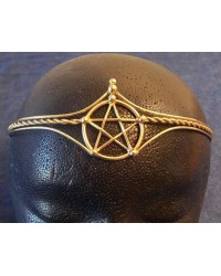 Pentagram Bronze Wiccan Circlet Mystic Convergence Metaphysical Supplies Metaphysical Supplies, Pagan Jewelry, Witchcraft Supply, New Age Spiritual Store