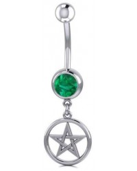 Pentacle Body Jewelry with Gemstone Mystic Convergence Metaphysical Supplies Metaphysical Supplies, Pagan Jewelry, Witchcraft Supply, New Age Spiritual Store