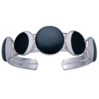 Magick Dark of the Moon Phases Cuff Bracelet