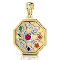 Chandra Moon Gemstone Gold Plated Pendant