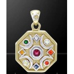 Chandra Moon Gemstone Gold Plated Pendant