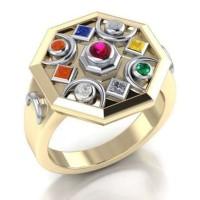 Chandra Moon Gemstone Gold Plated Ring