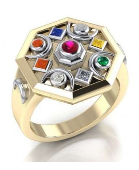 Chandra Moon Gemstone Gold Plated Ring at Mystic Convergence Metaphysical Supplies, Metaphysical Supplies, Pagan Jewelry, Witchcraft Supply, New Age Spiritual Store