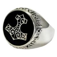 Thor Hammer Sterling Silver Signet Ring