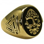 Odin Large Bronze Valknut Signet Ring at Mystic Convergence Metaphysical Supplies, Metaphysical Supplies, Pagan Jewelry, Witchcraft Supply, New Age Spiritual Store