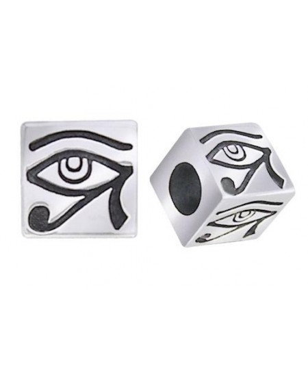 Eye of Horus Square Bead at Mystic Convergence Metaphysical Supplies, Metaphysical Supplies, Pagan Jewelry, Witchcraft Supply, New Age Spiritual Store