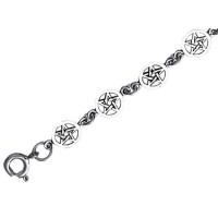 Pentacle Silver Silver Link Bracelet