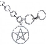 Pentacle Sterling Silver Toggle Bracelet at Mystic Convergence Metaphysical Supplies, Metaphysical Supplies, Pagan Jewelry, Witchcraft Supply, New Age Spiritual Store
