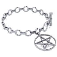 Pentacle Sterling Silver Toggle Bracelet