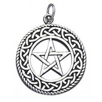 Celtic Border Pentacle Sterling Silver Pendant