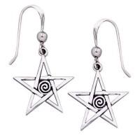 Spiral Pentacle Earrings
