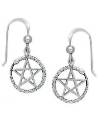 Ouroborus Snake of Rebirth Pentacle Earrings Mystic Convergence Metaphysical Supplies Metaphysical Supplies, Pagan Jewelry, Witchcraft Supply, New Age Spiritual Store