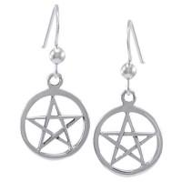 Sterling Silver Pentacle Earrings