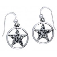 Celtic Knot Pentacle Earrings