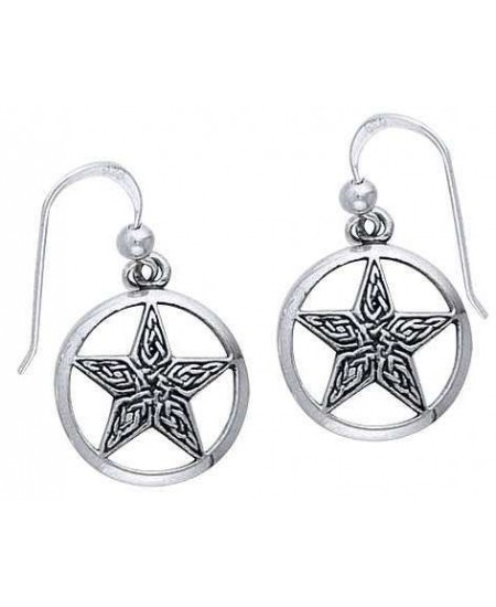 Celtic Knot Pentacle Earrings at Mystic Convergence Metaphysical Supplies, Metaphysical Supplies, Pagan Jewelry, Witchcraft Supply, New Age Spiritual Store