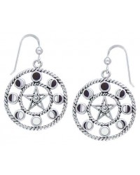 Magick Moon Phases Earrings in Sterling Silver Mystic Convergence Wiccan Supplies, Pagan Jewelry, Witchcraft Supplies, New Age Store