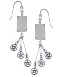 Pentacle Gemstone Sterling Silver Earrings Mystic Convergence Metaphysical Supplies Metaphysical Supplies, Pagan Jewelry, Witchcraft Supply, New Age Spiritual Store