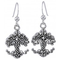 Celtic Tree of Life Sterling Silver Earrings