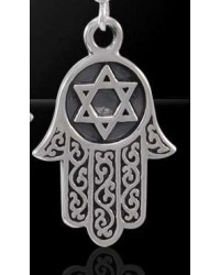Hamsa Star of David Sterling Silver Pendant Mystic Convergence Metaphysical Supplies Metaphysical Supplies, Pagan Jewelry, Witchcraft Supply, New Age Spiritual Store