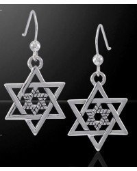 Double Star of David Sterling Silver Earrings Mystic Convergence Wiccan Supplies, Pagan Jewelry, Witchcraft Supplies, New Age Store