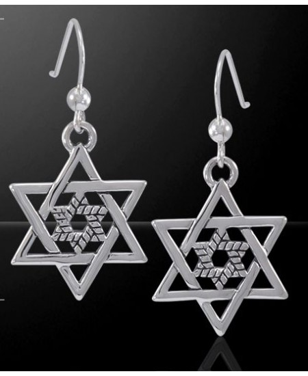 Double Star of David Sterling Silver Earrings at Mystic Convergence Metaphysical Supplies, Metaphysical Supplies, Pagan Jewelry, Witchcraft Supply, New Age Spiritual Store