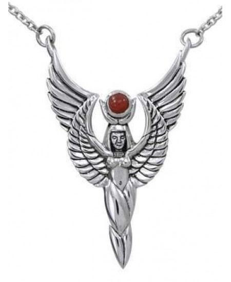 Winged Isis by Oberon Zell Silver or Gold Necklace at Mystic Convergence, Wiccan Supplies, Pagan Jewelry, Witchcraft Supplies, New Age Store