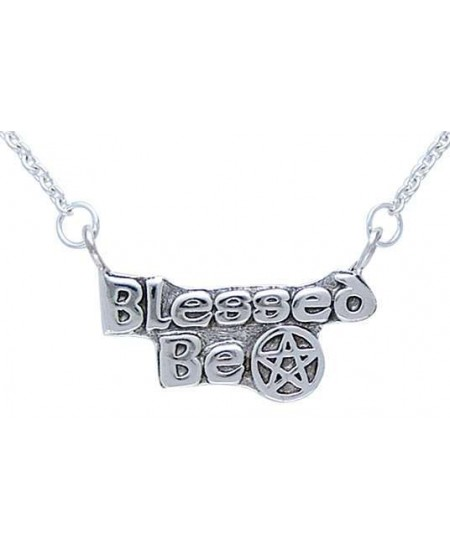 Blessed Be Pentacle Sterling Silver Necklace at Mystic Convergence Metaphysical Supplies, Metaphysical Supplies, Pagan Jewelry, Witchcraft Supply, New Age Spiritual Store