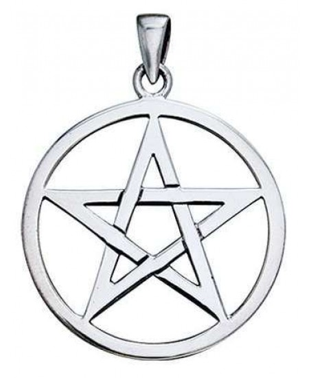 Pentagram Sterling Silver Pendant at Mystic Convergence Metaphysical Supplies, Metaphysical Supplies, Pagan Jewelry, Witchcraft Supply, New Age Spiritual Store