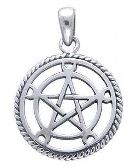 Moon Pentacle Sterling Silver Pentagram Pendant at Mystic Convergence Metaphysical Supplies, Metaphysical Supplies, Pagan Jewelry, Witchcraft Supply, New Age Spiritual Store