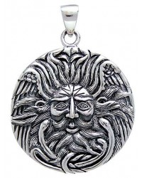 Belenos Sun God Disk Pendant in Sterling Silver Mystic Convergence Magical Supplies Wiccan Supplies, Pagan Jewelry, Witchcraft Supplies, New Age Store
