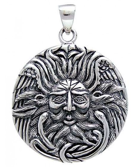 Belenos Sun God Disk Pendant in Sterling Silver at Mystic Convergence Metaphysical Supplies, Metaphysical Supplies, Pagan Jewelry, Witchcraft Supply, New Age Spiritual Store