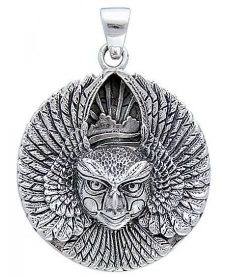 Ariel Bird Goddess Disk Pendant in Sterling Silver at Mystic Convergence Metaphysical Supplies, Metaphysical Supplies, Pagan Jewelry, Witchcraft Supply, New Age Spiritual Store