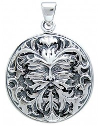 Green Man Sterling Silver Pendant Mystic Convergence Metaphysical Supplies Metaphysical Supplies, Pagan Jewelry, Witchcraft Supply, New Age Spiritual Store