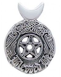 Celtic Blessed Be Sterling Silver Pentacle Pendant Mystic Convergence Metaphysical Supplies Metaphysical Supplies, Pagan Jewelry, Witchcraft Supply, New Age Spiritual Store