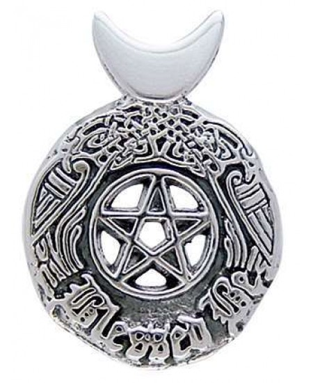 Celtic Blessed Be Sterling Silver Pentacle Pendant at Mystic Convergence Metaphysical Supplies, Metaphysical Supplies, Pagan Jewelry, Witchcraft Supply, New Age Spiritual Store
