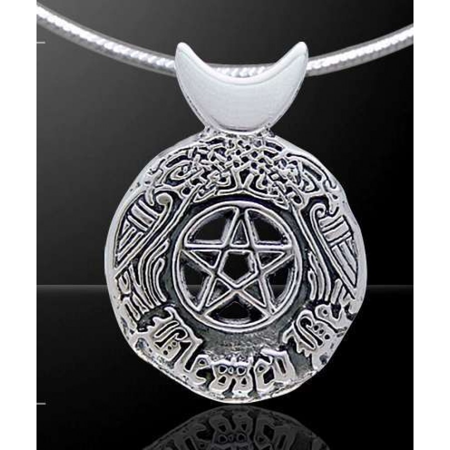 Celtic blessed be sterling silver pentacle pendant wicca witch celtic blessed be sterling silver pentacle pendant at mystic convergence wiccan supplies pagan jewelry aloadofball Gallery