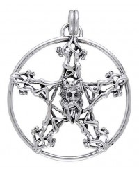 Horned God Pentacle Pentagram Pendant Mystic Convergence Metaphysical Supplies Metaphysical Supplies, Pagan Jewelry, Witchcraft Supply, New Age Spiritual Store