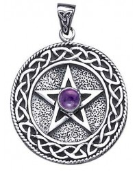Celtic Border Pentacle Pendant with Amethyst Mystic Convergence Metaphysical Supplies Metaphysical Supplies, Pagan Jewelry, Witchcraft Supply, New Age Spiritual Store