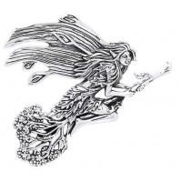 Besom Fairy Silver Pendant