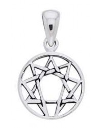 Enneagram Pendant in Sterling Silver Mystic Convergence Metaphysical Supplies Metaphysical Supplies, Pagan Jewelry, Witchcraft Supply, New Age Spiritual Store