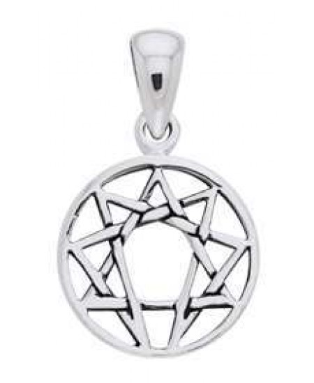 Enneagram Pendant in Sterling Silver at Mystic Convergence Metaphysical Supplies, Metaphysical Supplies, Pagan Jewelry, Witchcraft Supply, New Age Spiritual Store