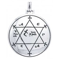 Seal of Solomon Sterling Silver Magical Pendant