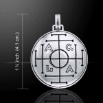 AGLA Seal of Solomon Sterling Silver Pendant for Success and Wealth at Mystic Convergence Metaphysical Supplies, Metaphysical Supplies, Pagan Jewelry, Witchcraft Supply, New Age Spiritual Store