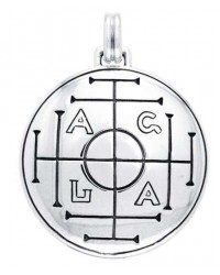 AGLA Seal of Solomon Sterling Silver Pendant for Success and Wealth