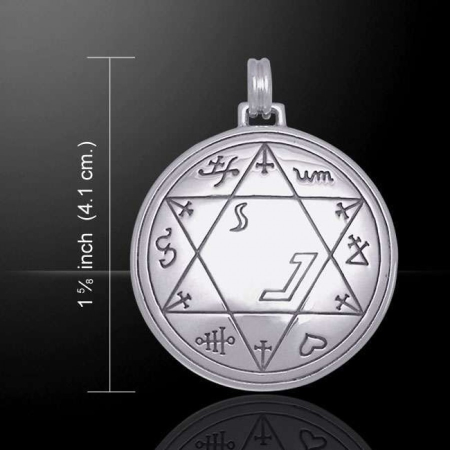 Seal Of Solomon Sterling Silver Pendant For Business Success At Mystic Convergence Wiccan Supplies