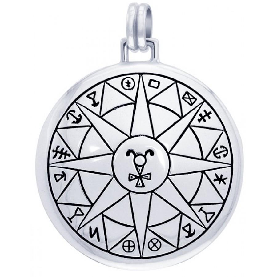 Safe Travels Seal of Solomon Sterling Silver Pendant