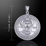 First Pentacle of the Sun Seal of Solomon Sterling Silver Pendant at Mystic Convergence Metaphysical Supplies, Metaphysical Supplies, Pagan Jewelry, Witchcraft Supply, New Age Spiritual Store