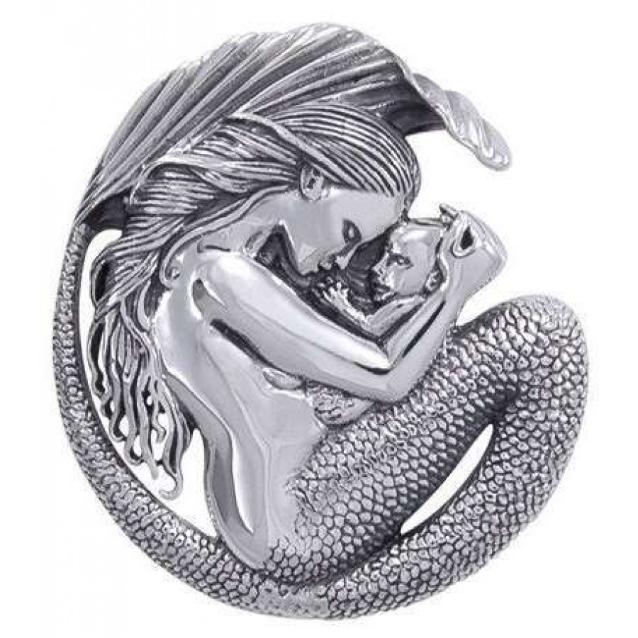 Motherhood Mermaid Sterling Silver Pendant