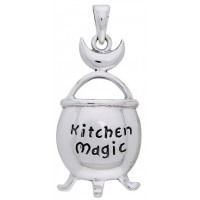Kitchen Magic Cauldron Pendant in Sterling Silver